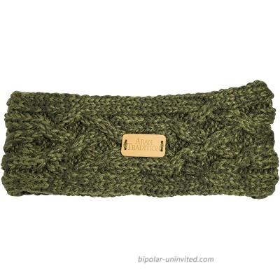 Aran Traditions Aran Cable Knit Headband Dark Green at  Women's Clothing store