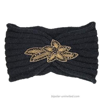 CBC Crown Warm Winter Twisted Knot Headwrap Turban Headbands For Women Wide HeadBands Yoga Sport Workout Laon Headwrap 1