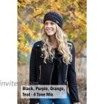 Funky Junque 2-Pack Ponytail Headwrap - Black Beige