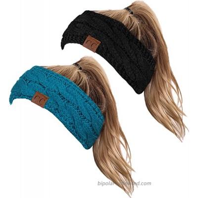 HW-6033-2-20a-0646 Headwrap Bundle - Black & Teal 2 Pack