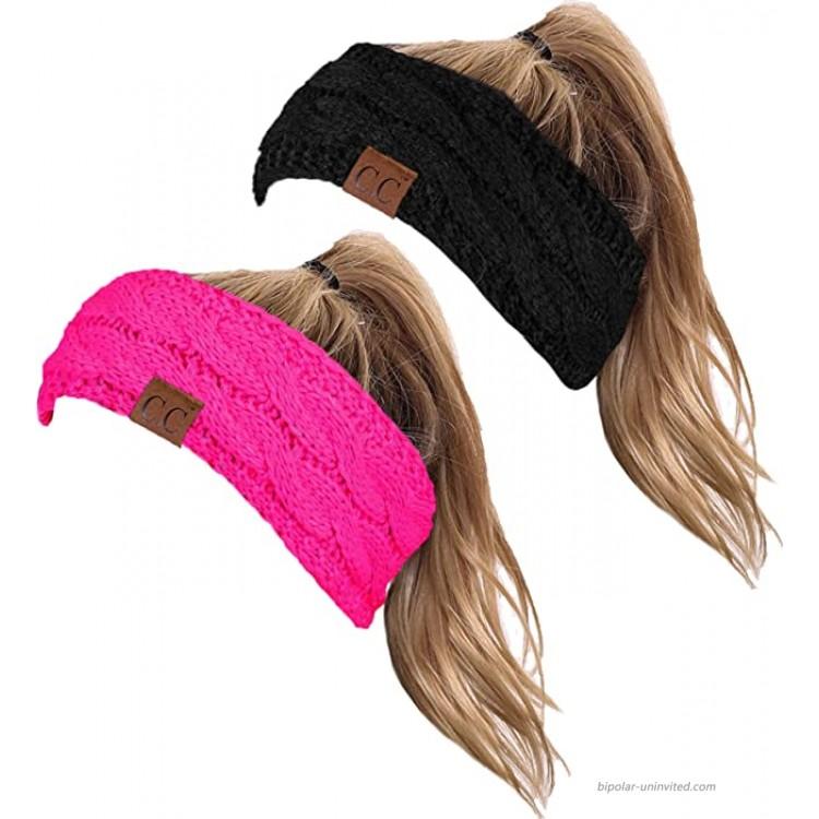HW-6033-2-20a-0678 Headwrap Bundle - Black & Neon Pink 2 Pack