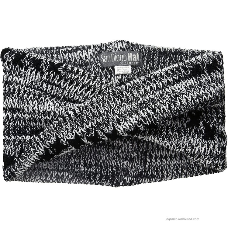 San Diego Hat Company Women's Oversized Twist Knit Headband with Stitch Detail black One Size at Women's Clothing store