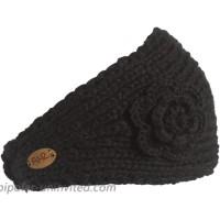 Turtle Fur Lifestyle - Women's Toaster Fleece Lined Hand Knit Headband Black One Size