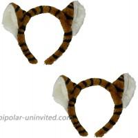 Women's Adult Faux Fur Tiger Headband 2 pack
