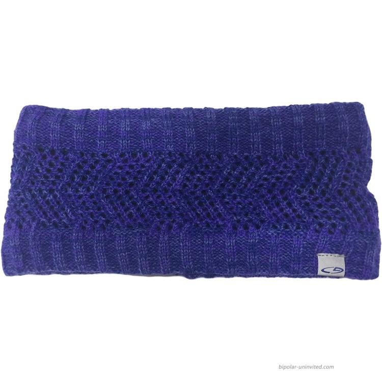 Women's Knit Ear Warmer Headband Purple at Women's Clothing store